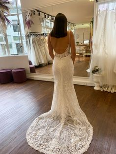 Our Zylah dress is what dreams are made of. She comes in the most gorgeous luxiours lace with a V neckline and low lace back. Yes To The Dress, Lace Back, Mermaid Wedding, Neckline, Dreams, Bridal, Store, Wedding Dresses, Fashion