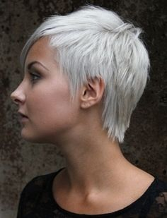 white short hair for women - Click image to find more hair posts