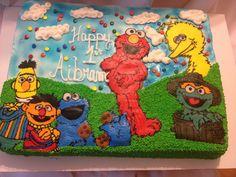 Sesame Street cake icing transfer Elmo big bird Cookie Monster Burt and Ernie