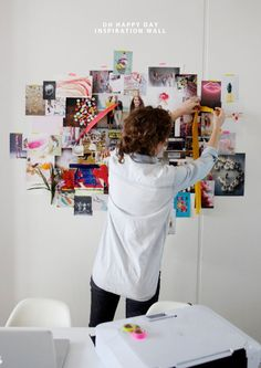 inspiration wall • Oh Happy Day Studio • photo by Paul Ferney