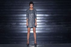 NEW YEAR DRESS   Long Sleeved Sequin Mini Dress  by NetaEfrati, $260.00