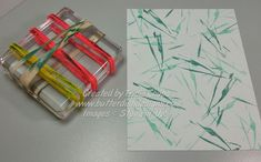 homemade stamping idea from ButterDish Designs . hair ties and rubber bands wrapped around an acrylic block . Card Making Tips, Card Making Techniques, Monthly Themes, Art Background, Rubber Bands, Different Patterns, Stampin Up Cards, Hair Ties, Cool Bands