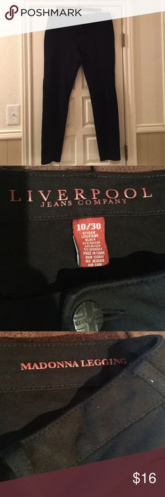 """Liverpool Stitch Fix Pants Sz 10. Madonna leggings in black. These pants are the greatest. Show some wear, but give them a try. 30"""" inseam. Super stretchy and flattering. Liverpool Jeans Company Pants"""