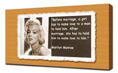 Marilyn Monroe Quotes 2 - Canvas Art Print Pingoo Prints http://www.amazon.com/dp/B00IIVPWHE/ref=cm_sw_r_pi_dp_l714ub0FR5P5B