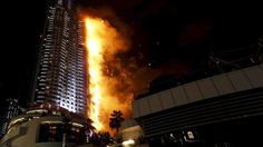DEVELOPING: Fire tears through Dubai luxury hotel within sight of fireworks show