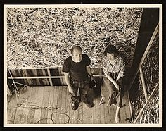 Citation: Jackson Pollock and Lee Krasner in Pollock's studio, ca. 1950 / Rudy Burckhardt, photographer. Jackson Pollock and Lee Krasner papers, Archives of American Art, Smithsonian Institution.