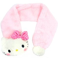 a7cfe574740d Buy Sanrio Hello Kitty Plush Fur Mascot Scarf with Pom Pom at ARTBOX