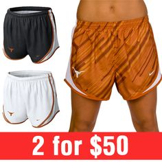 Shop College Team Apparel and Gifts at Rally House Nike Shorts Women, Nike Women, Gym Shorts Womens, Texas Longhorns T Shirts, University Of Texas, Love My Boys, Team Apparel, College Outfits, Mix Match