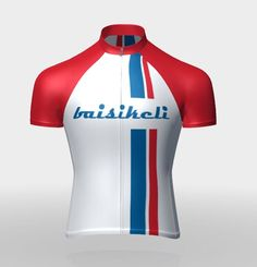 0a5bc1340 Baisikeli Bendera (flag) White Blue Stripped Jersey.High Quick Dry  lightweight polyester. Baisikeli Cycling Apparel