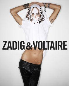 DIY Zadig et Voltaire Cut-Out Skull Tee