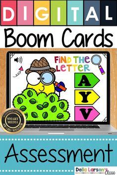 Use Boom cards to assess your kindergarten students knowledge of the alphabet. An easy, fun activity to make assessment of letters easy for you and feel like a game for your beginning readers. This print concept skill is critical readiness skill. Preschool Number Worksheets, Preschool Readiness, Interactive Learning, Fun Learning, Kindergarten Classroom, Classroom Ideas, Teaching The Alphabet, Literacy Stations, Google Classroom