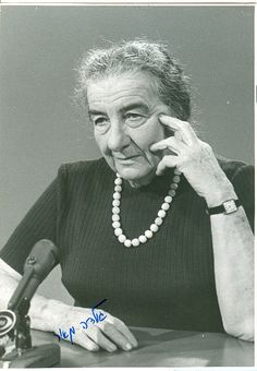 Golda Meir autograph