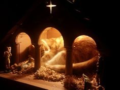 The Jesus in our crib is big, fat, furry and pointy eared…but undeniably cute!