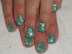 Nails Mylar Nails, Bella Nails, Rhinestone Nails, Creative Nails, Cute Nails, Color Patterns, Nail Art, Glitter, Hair