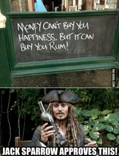 Jack Sparrow Approves this message. Pirates of the Caribbean