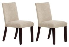 Moonstone Shannon Side Chairs, Pair