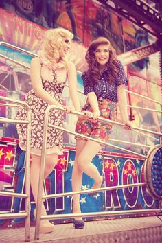 wild west inspired fashion editorial, fashion shoot at carnival, fashion shoot at fairground, model lauren sergeant, model lauren haggarty,...