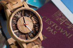 Limitovaná edice dřevěných hodinek London Eye, Wood Watch, Watches, Accessories, Wooden Clock, Clocks, Clock, Ornament