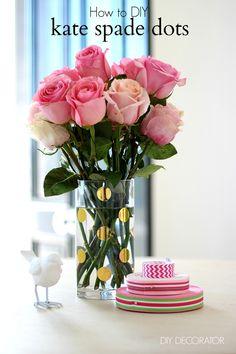 06213a09899 diy kate spade dots Cheap Glass Vases