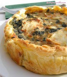 Quiche aux épinards et fromage de chèvre