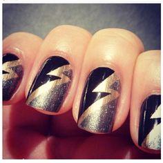 lighting bolt nails