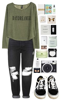 """Daydreaming"" by ellac9914 ❤ liked on Polyvore featuring мода, Topshop, H&M, Vans, Happy Plugs, Byredo, Laura Mercier, Origins, Forever 21 и MAKE UP FOR EVER"