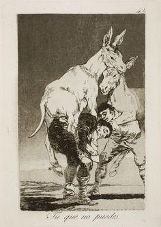 Francisco de Goya. Tu que no puedes. Los Caprichos. 1798 ●彡
