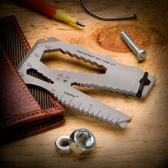 Like Having a Full Tool Box in Your Wallet — Our Military Grade Stainless Steel 10-in-1 Multi-Tool is Credit Card Compact, Yet Tougher Than Titanium!