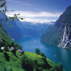 Stunning scenery on our ship ride through...Per Eide/Fjord Norway