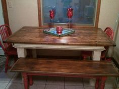 Johnmichaeloriginals.com rustic dining room table with bench