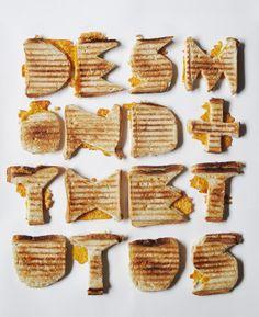 Type of toasted cheese sandwiches :] - Typo - # dip toast toast design hawaii rezepte ideas rezepte rezepte mit ei überbacken rezept Food Typography, Creative Typography, Typography Poster, Typography Design, Typography Alphabet, Modern Typography, Typography Inspiration, Packaging Design Inspiration, Food Inspiration