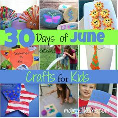 Mamas Like Me: 30 Days of June Crafts for Kids - a craft for every day of the month!