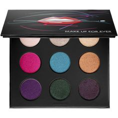 MAKE UP FOR EVER Artist Palette Volume 2 – Artistic (56 CAD) ❤ liked on Polyvore featuring beauty products, makeup, eye makeup, eyeshadow, peacock eye makeup, turquoise eyeshadow, make up for ever, gel eyeshadow and palette eyeshadow