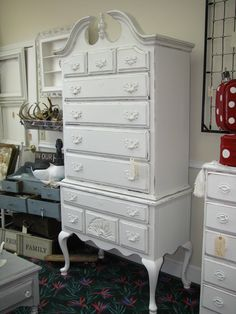 this is what my highboy could have looked like painted, had it survived storage.