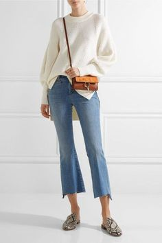M.i.h Jeans - Marrakech Cropped Mid-rise Flared Jeans - Mid denim -