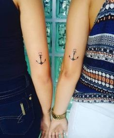 Matching Anchor Tattoos by Alan Love Symbol Tattoos, Tattoo Motive, Symbolic Tattoos, Unique Tattoos, Small Tattoos, Anchor Tattoo Meaning, Anchor Tattoos, Tattoos With Meaning, Sibling Tattoos