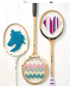 Got a few rackets tucked away somewhere that you no longer use? Transform them into fun pieces to adorn your home with using Corinne Bradd's how-to!