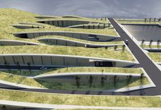 Residential development model by Lake Karla - by Antonis Vangelatos