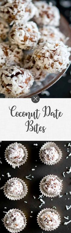 These naturally sweet no-bake coconut date bites are sweet little bites of absolute deliciousness, and they are gluten-free, paleo, dairy-free, and vegan! via @NeliHoward