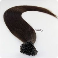 24 inch 2# Nail tip hair extensions/Fusion hair keratin extension use Best Itali keratin glue for fashion women Hair Extensions