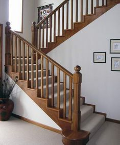 View the Gallery of Top Flyte - Internal stairs, balustrade, kitset, external stairs, attic and building site safety stairs Wooden Staircase Railing, Interior Stair Railing, Stair Railing Design, Staircase Ideas, Railings, Stairs In Living Room, House Stairs, Dining Room Furniture Design, Staircase Remodel