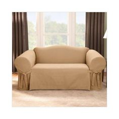 DIY Furniture : DIY make a sofa slip cover. what about just doing the back and front bottom with yardage? leave the arms and cushions as they are.