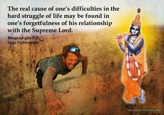 Real Cause of One's Difficulties For full quote go to… Krishna Leela, Baby Krishna, Krishna Radha, Lord Krishna, Shiva, Sanskrit Quotes, Gita Quotes, Live And Learn Quotes, Radha Krishna Love Quotes