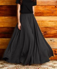 BY LAYERING LESSONS---I JUST LOVE THIS!!!  I WANT IT SO BAD!!!  Love this Charcoal Maxi Skirt on #zulily! #zulilyfinds