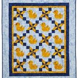 Litttle Rubber Ducky Baby Quilt by Stephanie Marie Designs