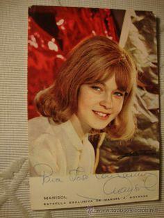 fotografia tipo postal autografiada autografo de marisol pepa flores, es 100X100 ORIGINAL.