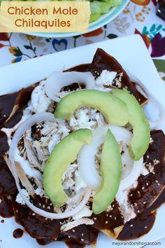 Chicken Mole Chilaquiles made with Doña Maria ® Mexican Mole, Real Mexican Food, Mexican Food Recipes, Recipes With Mole Sauce, Mole Recipe, Sauce Mole, Dona Maria Mole, Tortillas, Nachos
