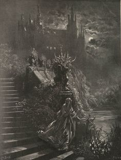 """Gustave Doré (1832–1883), Illustration for the short story """"Peau d'Âne"""" by Charles Perrault"""