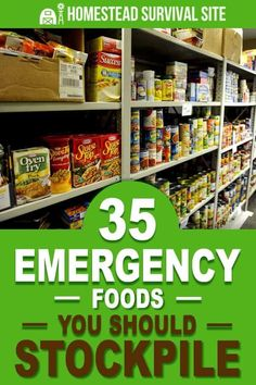 35 Emergency Foods You Should Stockpile Homestead Survival Site is part of Emergency food storage - Here you'll find a list of 35 emergency foods you should be stockpiling With all of these foods on hand, you'll be eating well no matter what happens Homestead Survival, Survival Prepping, Survival Skills, Survival Gear, Wilderness Survival, Survival Food List, Survival Hacks, Outdoor Survival, Prepper Food