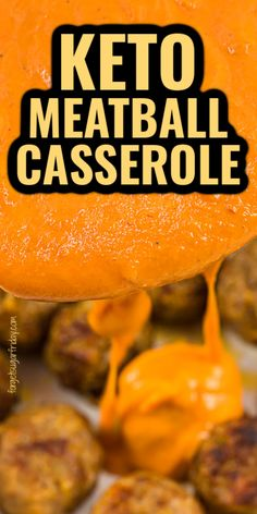 This Keto Meatball Casserole recipe is so good and only contains FIVE ingredients! It doesn't get much easier than that. Mild italian sausage, Parmesan cheese, almond flour, sugar-free marinara or sugar-free pasta sauce, and mozzarella cheese come together for a yummy keto diet recipe that is hard to beat. Great as a keto dinner or low carb dinner! Vegetarian Casserole, Vegetable Casserole, Keto Casserole, Sugar Free Pasta Sauce, Beef Recipes, Healthy Recipes, Chicken Recipes, Healthy Food, Keto Meatballs